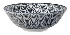 Tokyo Design Nippon Black Soba Bowl 21x7.8cm Wave