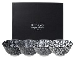Tokyo Design Nippon Black Rice Bowl Set Of 4 12x6.4cm
