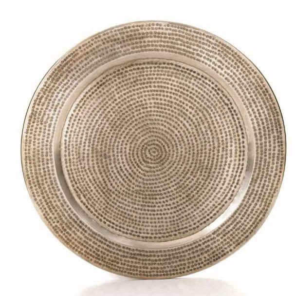 silver tray 60cm