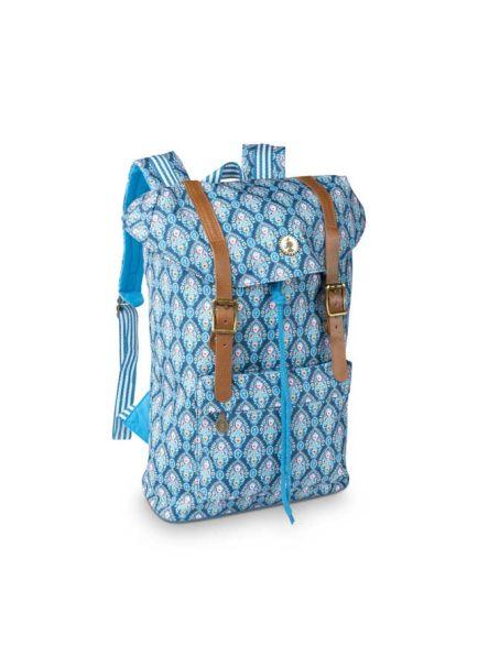 Pip Studio BTS Indian Festival Strapped Backpack Blue