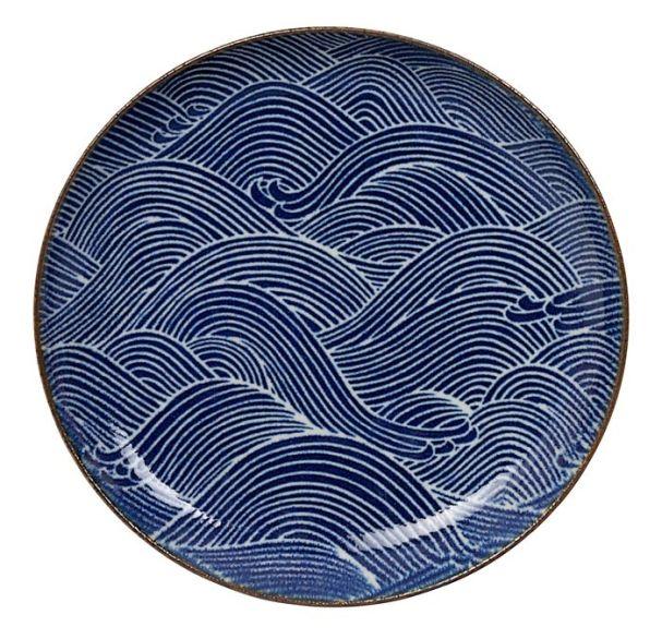 Tokyo Design Seigaiha Plate 21.5cm