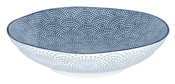Tokyo Design Nippon Grey Shallow Dish 21x5.2cm Dot