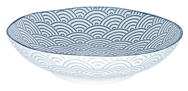 Tokyo Design Nippon Grey Shallow Dish 21x5.2cm Wave