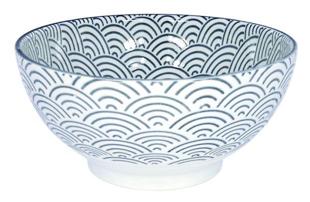Tokyo Design Nippon Grey Sanuki Bowl 18.5x9cm Wave