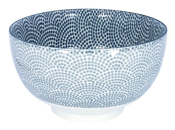 Tokyo Design Nippon Grey Okonomi Bowl 16x8.5cm Dot