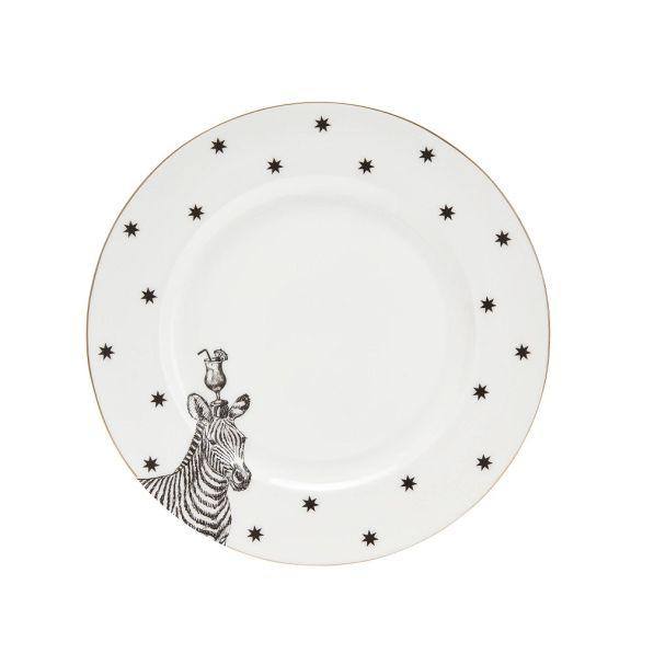 Yvonne Ellen Zebra Dinner Plate