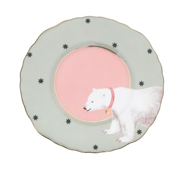 Yvonne Ellen Polar Bear Sandwich 22cm Plate