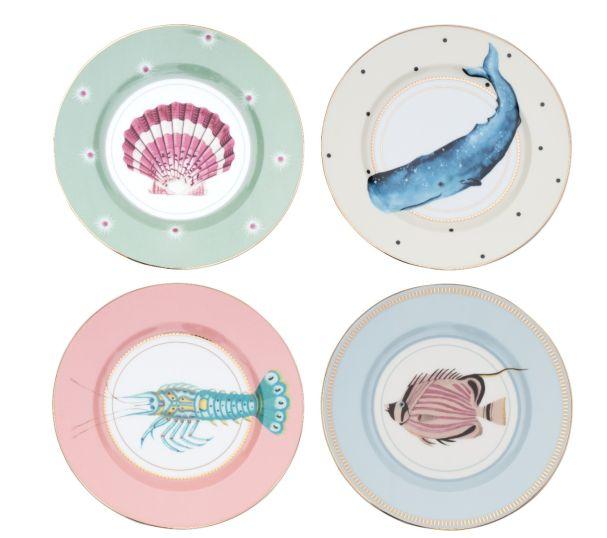 Yvonne Ellen Set/4 Side Plates Under the Sea (4x20cm)