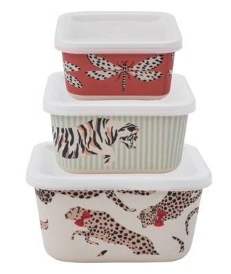 Yvonne Ellen Set/3 Bamboo Food Storage boxes