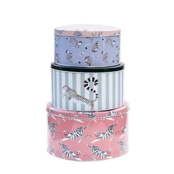 YE Set/3 Round Animal Cake Tins