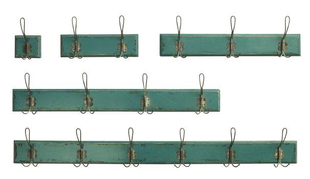 Nordal COUNTRYSIDE Coat rack, 3 hooks, petrol