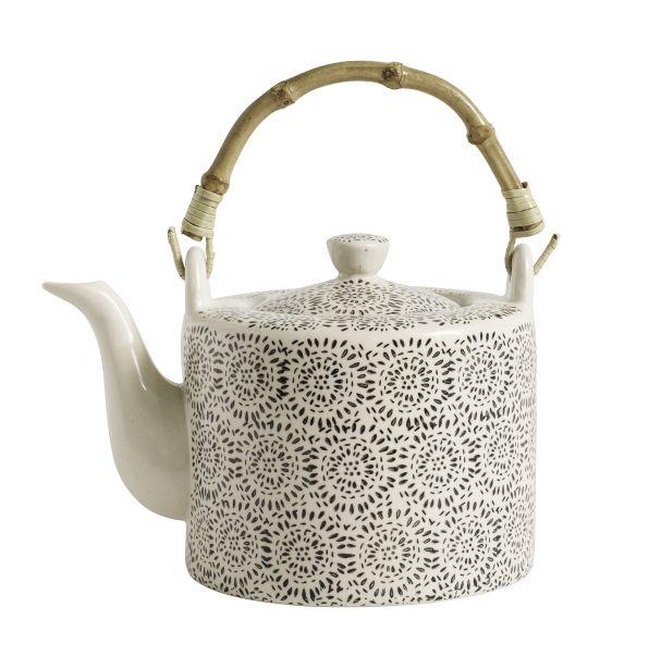 Nordal BLOSSOM Fluff teapot,black,17x12x12