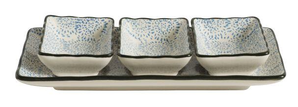 Nordal BLOSSOM Fluff tray, turq., 24x11x3