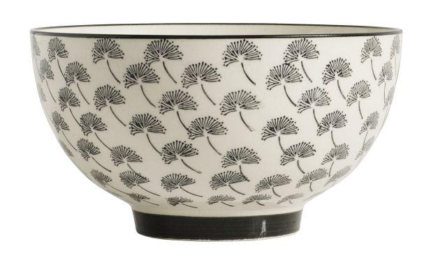 Nordal BLOSSOM Dandelion bowl, black, 14x14x7