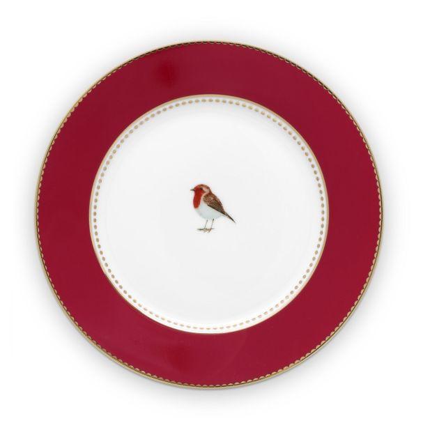 Love Birds Red 17cm Plate