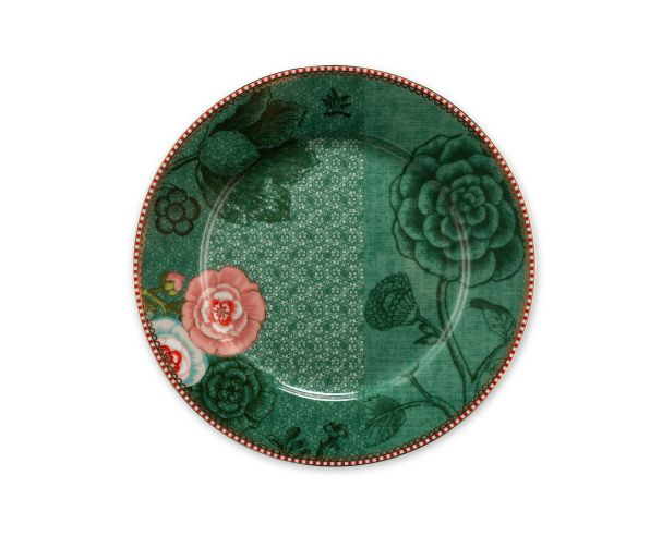 green 21cm spring to life plate