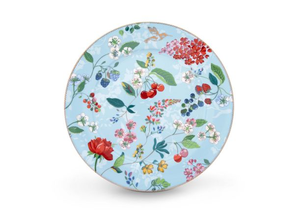 Pip Studio Plate Hummingbirds Blue 32 cm Floral 2.0