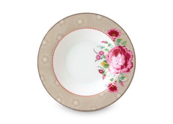 Pip Studio Soup Plate Rose Khaki 21.5 cm Floral 2.0