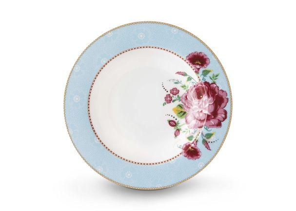 Pip Studio Soup Plate Rose Blue 21.5 cm Floral 2.0