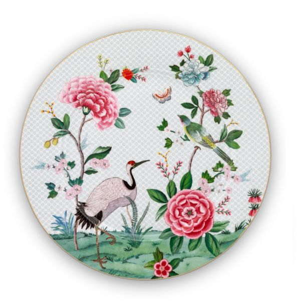 Blushing Birds White Plate 32cm