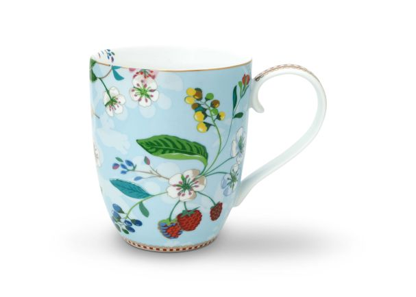 Pip Studio XL Hummingbirds Mug Blue Floral 2.0