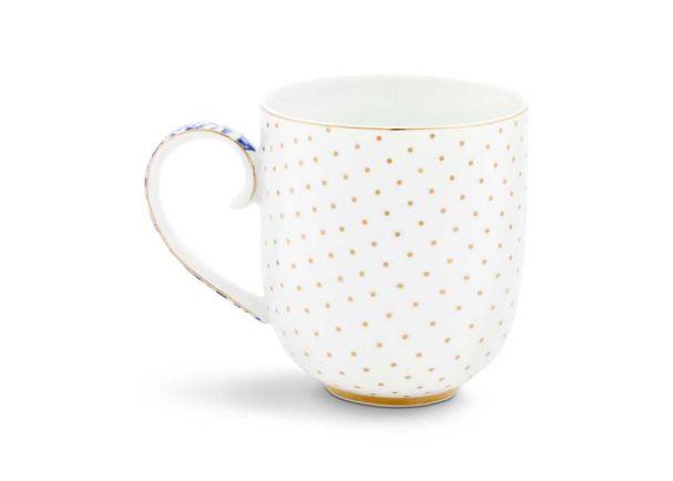 Mug Large Royal White Dots