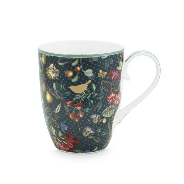 Large Winter Wonderland Overall Dark Blue 350ml Mug