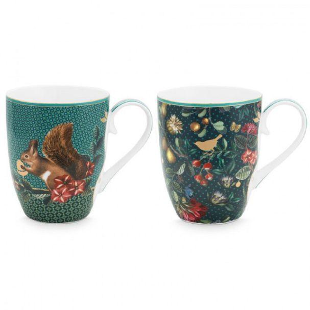 Set/2 Mugs Large Winter Wonderland 350ml