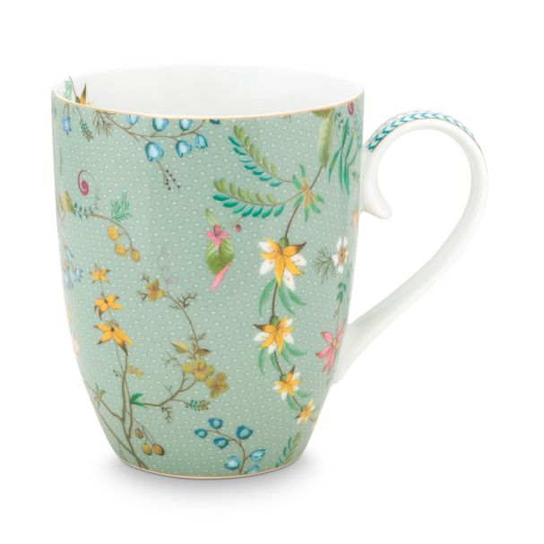 Pip Studio Large Jolie Flowers Blue 350ml Mug