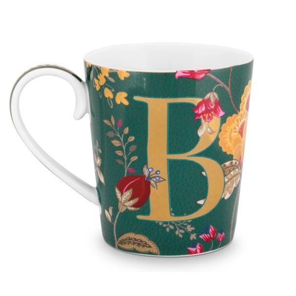 Alphabet Mug Floral Fantasy Green B 350ml