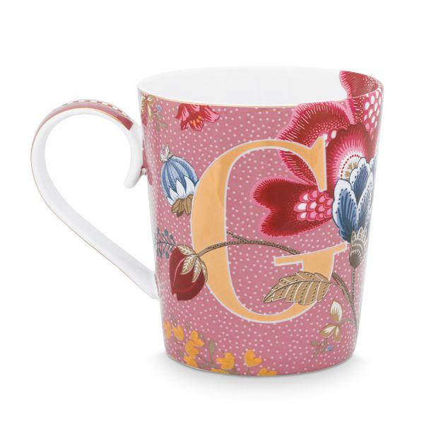 Alphabet Mug Floral Fantasy Pink G 350ml