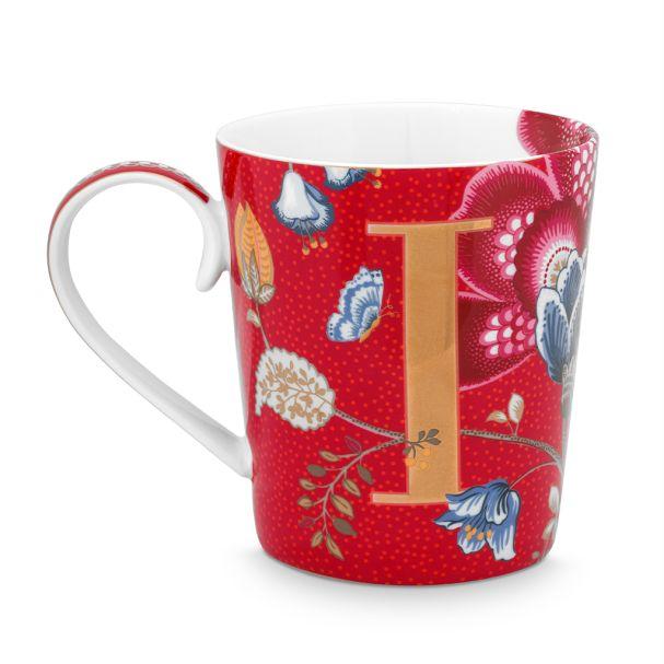 Alphabet Mug Blushing Birds Red I 350ml