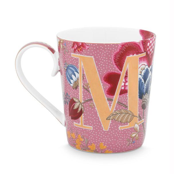 Alphabet Mug Floral Fantasy Pink M 350ml