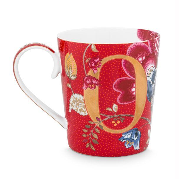 Alphabet Mug Blushing Birds Red O 350ml