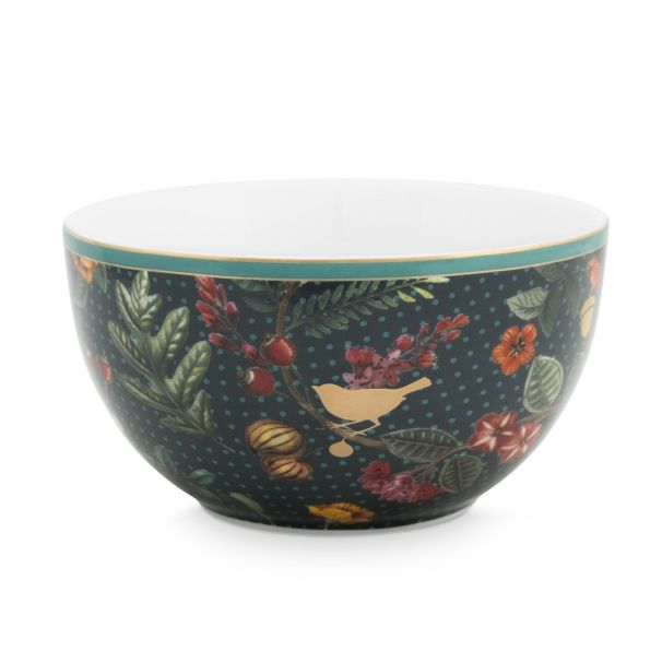 Bowl Winter Wonderland Overall Dark Blue 12cm