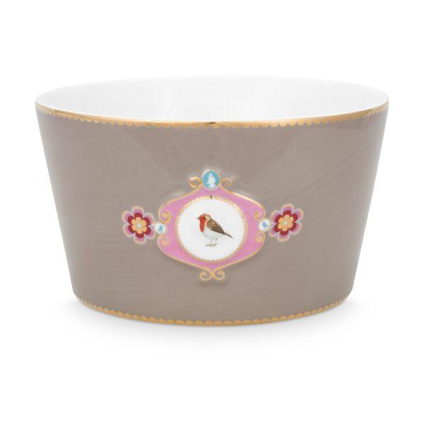 Love Birds Medallion Khaki 15cm Bowl