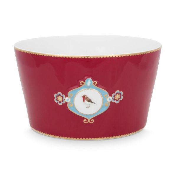 Love Birds Medallion Red 20cm Bowl