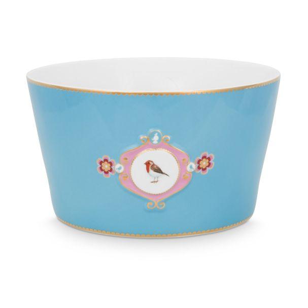 Love Birds Medallion Blue 20cm Bowl