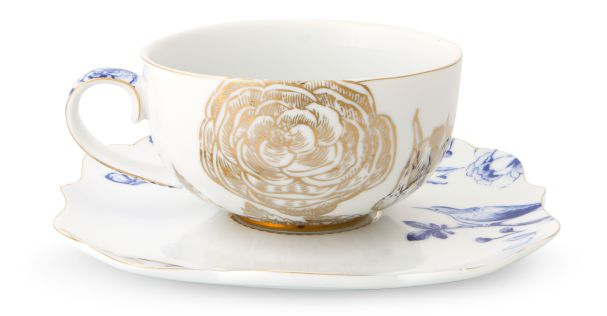 Pip Studio Tea cup and saucer Royal White