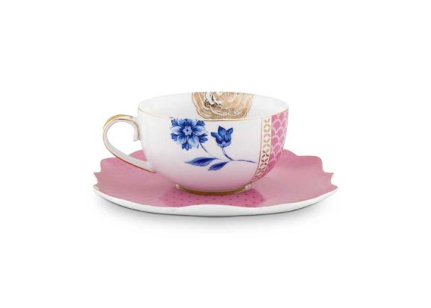 Teacup & Saucer Royal Pink