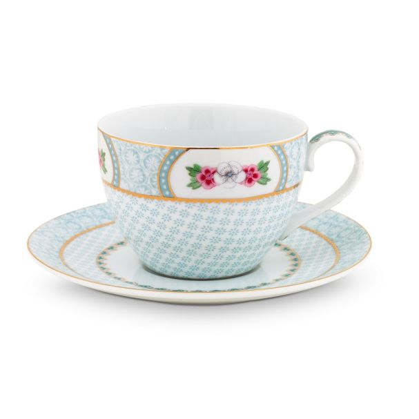 Blushing Birds White Cappuccino Cup & Saucer 280ml