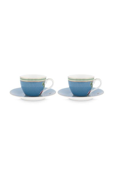 Set/2 Espresso Cups & Saucers La Majorelle Blue 120ml