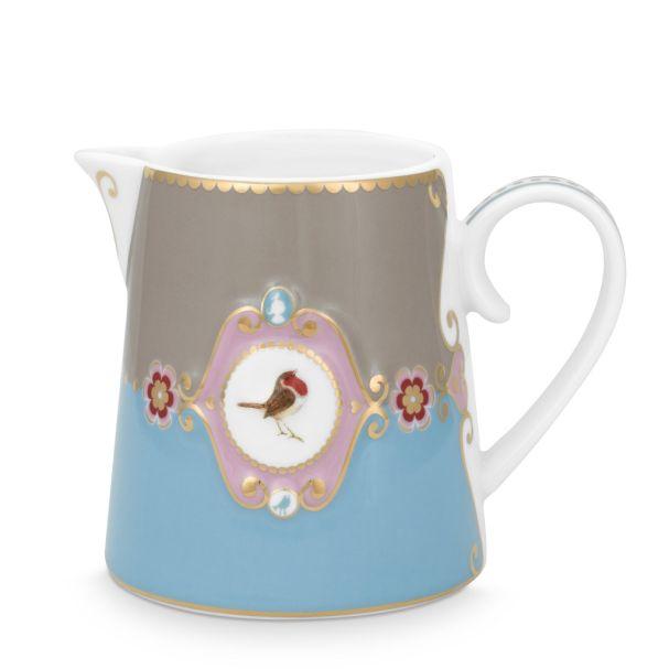 Small Love Birds Medallion Blue-Khaki 270ml Jug