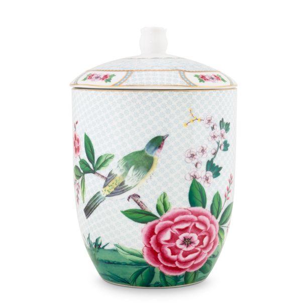 Blushing Birds White Storage Jar 1.5ltr