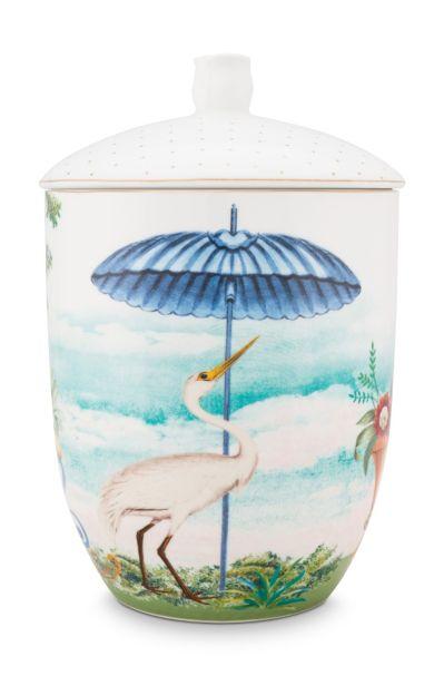 Pip Studio Jolie Heron 1.5ltr Storage Jar
