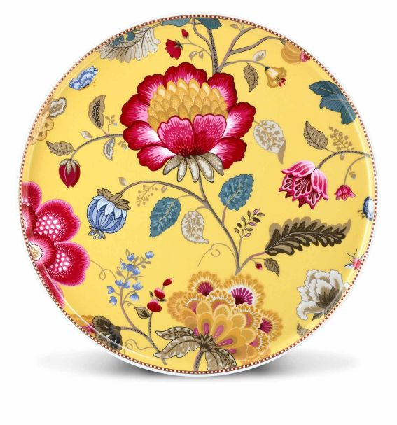 Pip Studio Cake Tray Without Stand Fantasy 30,5 cm Yellow