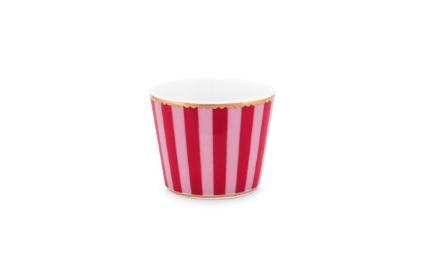 Love Birds Stripes Red-Pink Egg Cup