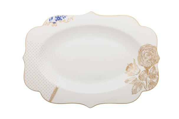 Pip Studio Oval Platter Royal White - 40 cm