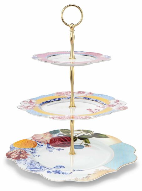 Pip Studio 3 Layer Cake Stand Royal