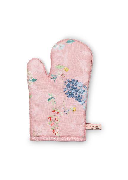 Pip Studio Oven Glove Hummingbirds Pink